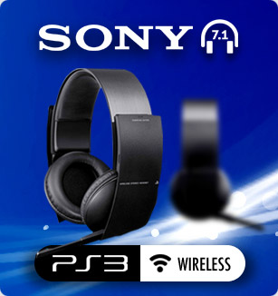 Auriculares Wireless 7.1 stereo headset PS3 Oficial